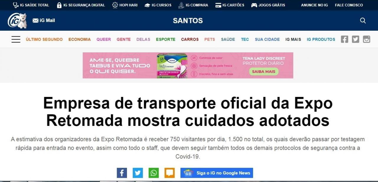 Santos IG 21 de julho de 2021
